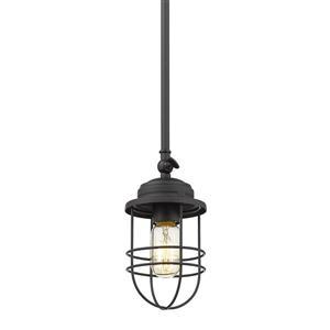 Golden Lighting Seaport Mini Pendant Light - Black
