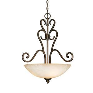Golden Lighting Heartwood 3-Light Pendant Light - Burnt Sienna