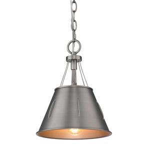 Golden Lighting Whitaker Mini Pendant Light - Aged Steel