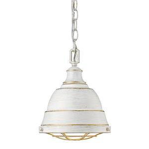 Golden Lighting Bartlett Small Pendant Light - French White