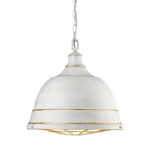 Golden Lighting Bartlett Large Pendant Light - French White