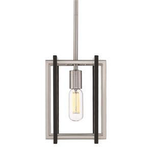 Golden Lighting Tribeca Mini Pendant Light - Pewter/Black