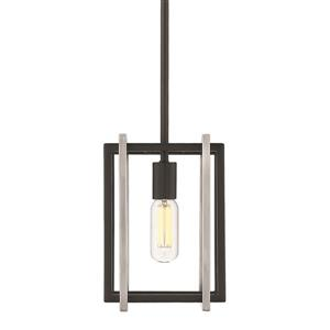 Golden Lighting Tribeca Mini Pendant Light - Black/Pewter