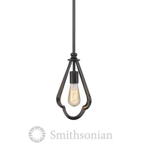 Golden Lighting Smithsonian Mini Pendant Light - Aged Bronze