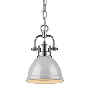 Golden Lighting Duncan Mini Pendant Light with Chain - Chrome