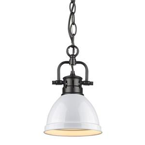 Golden Lighting Duncan Mini Pendant Light Chain Light - Black