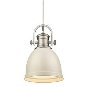 Golden Lighting Primed Small Pendant Light - Pewter