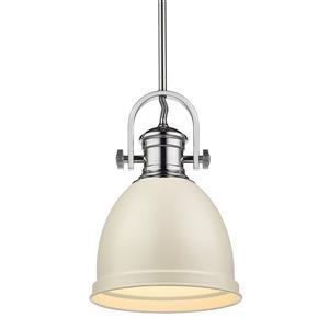 Golden Lighting Primed Small Pendant Light - Chrome
