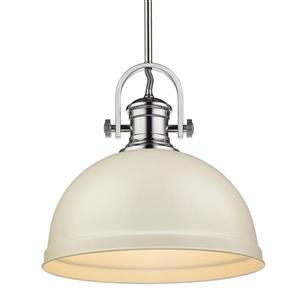 """Golden Lighting Primed Large Pendant Light - 14"""" - Chrome"""