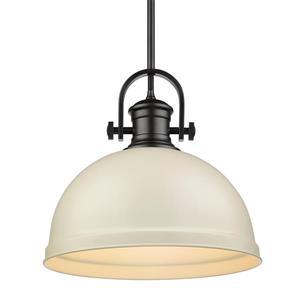 """Golden Lighting Primed Large Pendant Light - 14""""- Black"""
