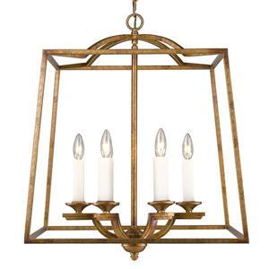 Golden Lighting Athena 6-Light Pendant Light - Grecian Gold