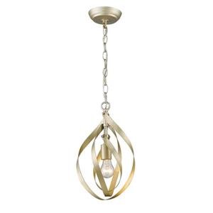 Golden Lighting Nicolette Mini Pendant Light - White Gold