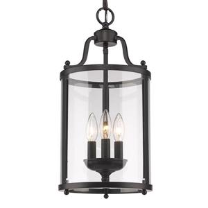 Golden Lighting Payton 3-Light Pendant Light - Black