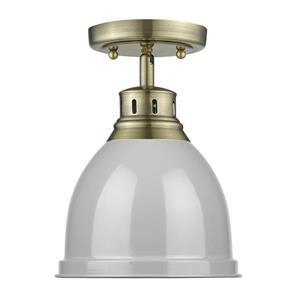Golden Lighting Duncan Flush Mount Light - Aged Brass