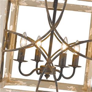 Golden Lighting Morgan 4-Light Pendant Light - Antique Black
