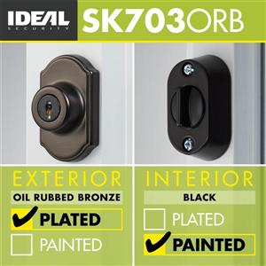 Ideal Security Keyed Deadbolt - Oil Rubbed Bronze