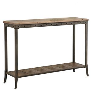Worldwide Home Furnishings Console Table - 39.25-in x 29-in - Wood - Brown