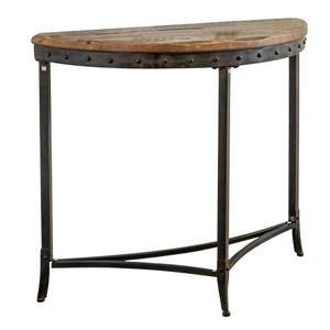 Worldwide Home Furnishings Console Table - 33.25-in x 30-in - Wood - Brown