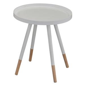 Worldwide Home Furnishings End table - 18-in x 19-in - Wood - White