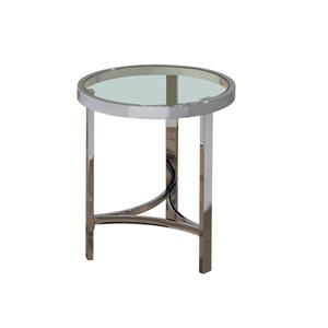 "End table - 20"" x 23"" - Glass - Silver"