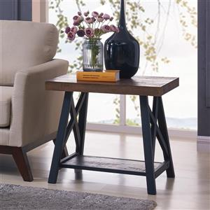 Worldwide Home Furnishings End table - 24-in x 22-in - Composite - Brown