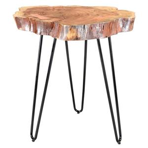 Worldwide Home Furnishings End table - 20-in x 24-in - Wood - Natural
