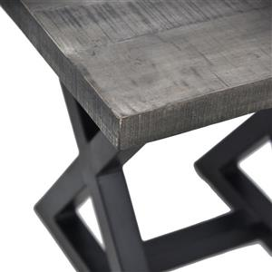 Worldwide Home Furnishings End table - 23.75-in x 24.5-in - Wood - Gray