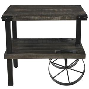 Worldwide Home Furnishings End table - 26.5-in x 24-in - Wood - Gray