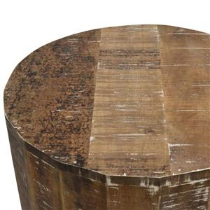 Worldwide Home Furnishings End table - 22-in x 24-in - Wood - Natural