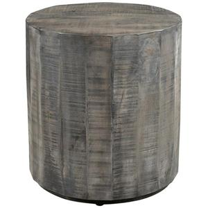 Worldwide Home Furnishings End table - 22-in x 24-in - Wood - Gray