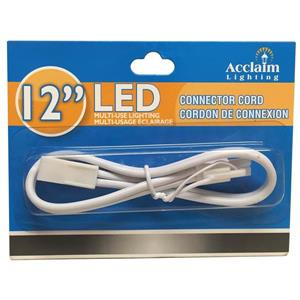 """Acclaim Lighting LED Connector Cord - 12"""" - White"""