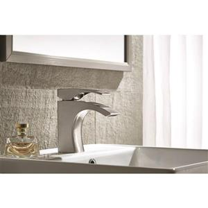 Sera Bathroom Vanity Faucet Galatina, Brushed Nickel
