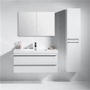 GEF Rosalie Vanity Set with Medicine Cabinet, 42-in White