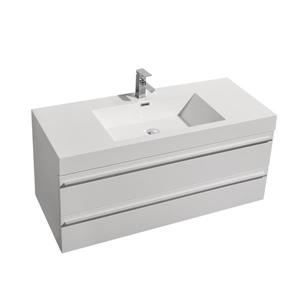 GEF Rosalie Vanity Set with Medicine Cabinet, 48-in White