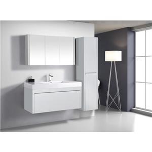 GEF Selena Vanity Set with Medicine Cabinet, 48-in White
