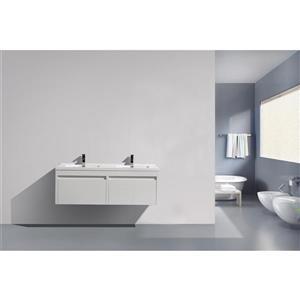 GEF Selena Vanity Set with Medicine Cabinet, 60-in White