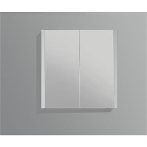 GEF Selena Vanity Set with Medicine Cabinet, 36-in White