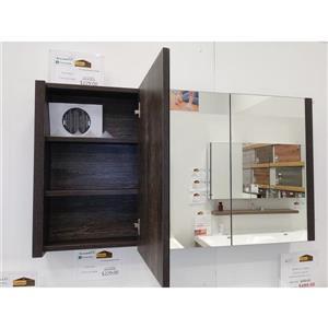 GEF Selena Vanity Set with Medicine Cabinet, 48-in Dark Oak