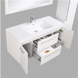 GEF Amira Vanity Set with Medicine Cabinet, 48-in White