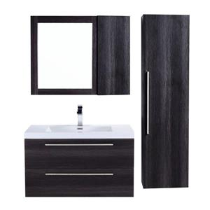 GEF Amira Vanity Set with Medicine Cabinet, 36-in Distressed Oak