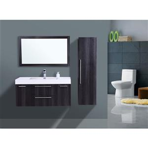 GEF Amira Vanity Set with Mirror, 48-in Distressed Oak