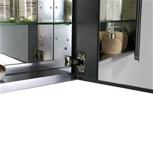 GEF Scarlett Vanity Set with Medicine Cabinet, 36-in white