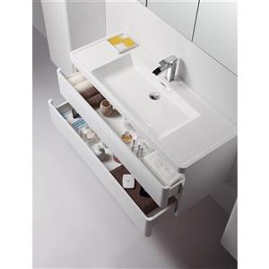 GEF Scarlett Vanity Set with Medicine Cabinet, 48-in white