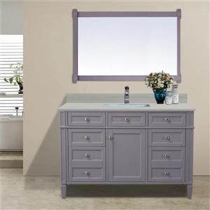 GEF Catalina Vanity with Solid-Surface Top, 48-in Grey