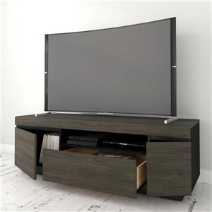 Nexera Lima TV Stand - 68-in - Wood - Bark Grey/Black