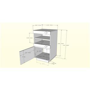 Nexera Cali Audio Tower - 1-Door - Wood - Walnut/White