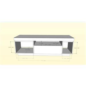 Nexera Lima TV Stand - 60-in- Wood - Bark Grey/Black