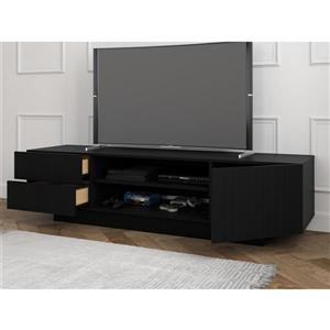 Nexera Galleri TV Stand - 72-in - Wood - Black