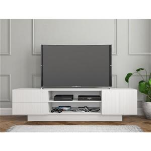 Nexera Marble TV Stand - 72-in - Wood - White