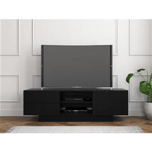 Nexera Galleri TV Stand - 60-in - Wood - Black